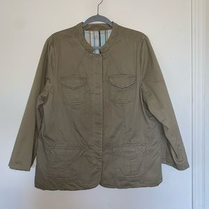 4/$25 Old Navy Utility Jacket Light Olive Size XXL